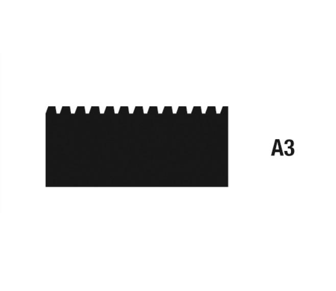 Geležtės klijams tepti A3 28 cm, 10 vnt. WOLFF