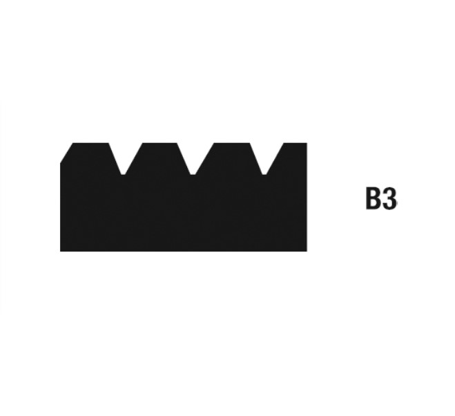 Geležtės klijams tepti B3 28 cm, 10 vnt. WOLFF