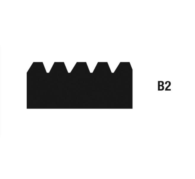 Geležtės klijams tepti B2 28 cm, 10 vnt. WOLFF