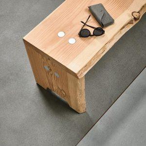 Vinilinės grindys plytelėmis Forbo Allura Material iron cement (100x100 cm)
