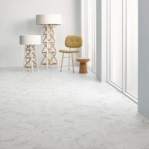 Vinilinės grindys plytelėmis Forbo Allura Click Pro white marble
