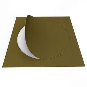 Vinilinės grindys plytelėmis Forbo Allura Material khaki circle