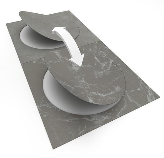 Vinilinės grindys plytelėmis Forbo Allura Material grigio concrete circle