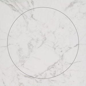 Vinilinės grindys plytelėmis Forbo Allura Material white marble circle