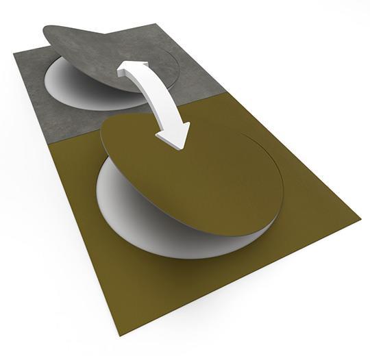 Vinilinės grindys plytelėmis Forbo Allura Material natural concrete circle