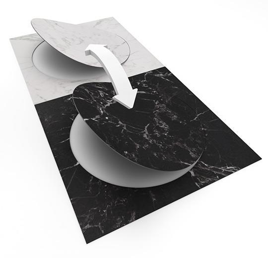 Vinilinės grindys plytelėmis Forbo Allura Material black marble circle