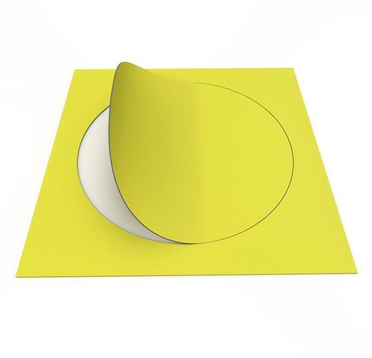 Vinilinės grindys plytelėmis Forbo Allura Material mustard circle
