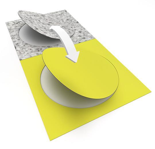 Vinilinės grindys plytelėmis Forbo Allura Material grey terrazzo circle