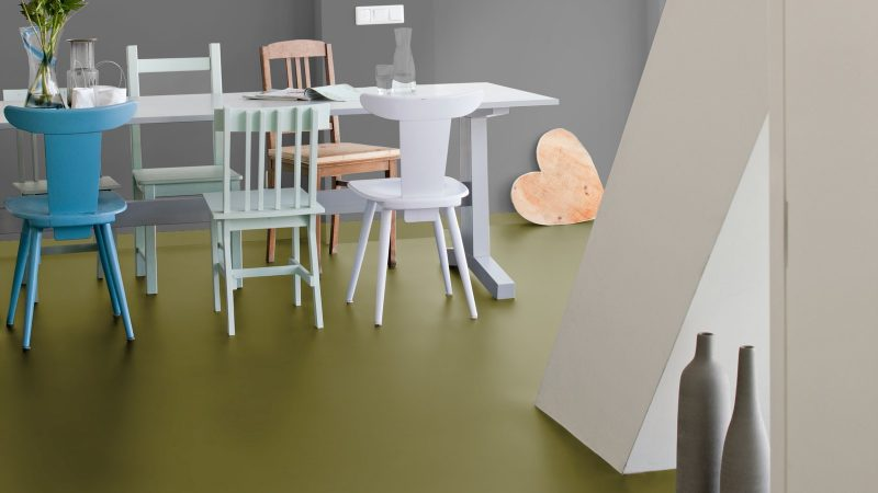 Vinilinės grindys plytelėmis Forbo Allura Material khaki
